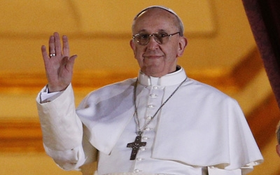 Pope Francis appears for the first time on the central balcony of St. Peter's Basilica at the Vatican March 13. Cardinal Jorge Mario Bergoglio of Argentina was elected the 266th Roman Catholic pontiff.